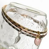 RSH-32 Mixed Metal Bangle Sets (assorted gemstones)
