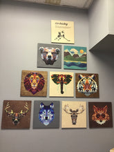 Load image into Gallery viewer, RPC-9 Stained 14x14 Print Sign Geometric Animal
