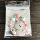 P2P-4 Unicorns & Mermaids Teether With Clip