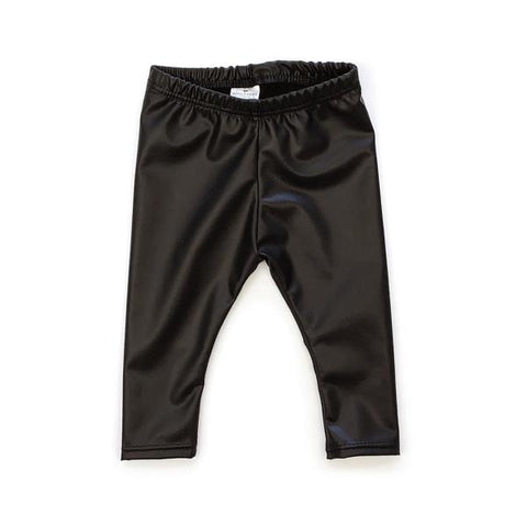 PAC-LEG-$40 6m-12m Black Faux Leather Leggings