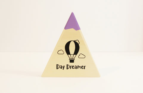 RMD-07 Day Dreamer Wood Mountain, Medium Neutral/Purple Sign