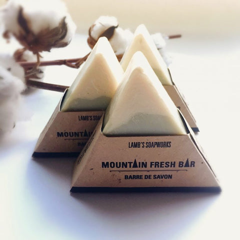 LSW-36 Mountain Fresh Soap Bar Plantable Label