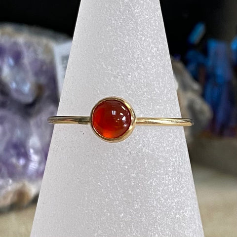 HHS-52 Gold Filled Gemstone Ring - Size 6