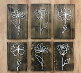 NAM-14 Barnwood Flowers Cut Out 8x10 Sign