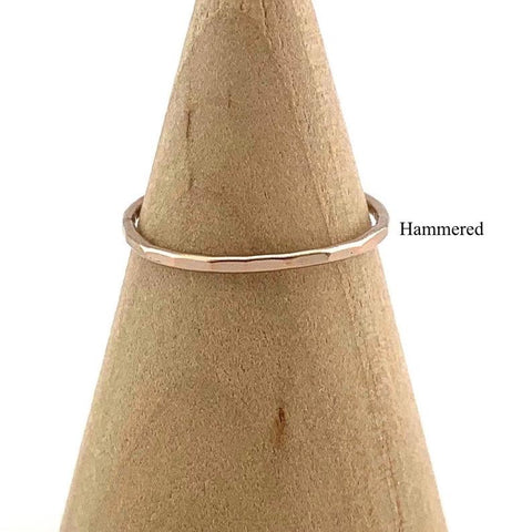 HHS-107 Rose Gold Filled Stacking Thin Ring -Size 3.5