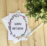 LOFT-1008 Happy Birthday Wildflower Wreath Card