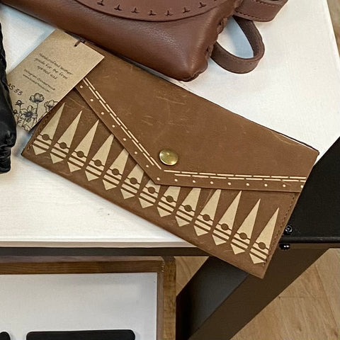 LAS-33 Leather Clutch Wallet with snap