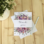 LOFT-1029 Thank you pink floral card