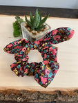 HTS-02 PATTERNED Regular Bow Scrunchie (choose from drop down list)