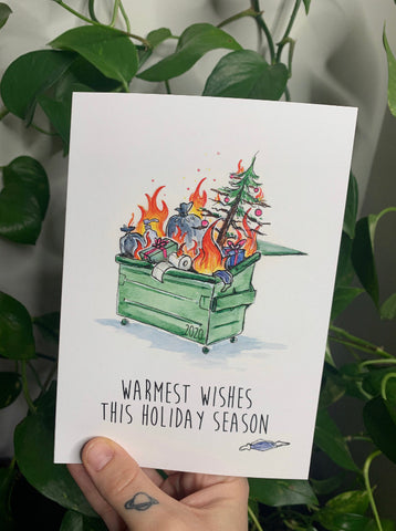 TAY-001 Dumpster Fire Christmas Card