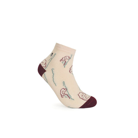 URB-03 ROSES ANKLE SOCKS- -Unisex Ankle Socks