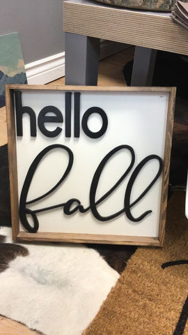 NAM-01 Hello Fall 12x12 signs