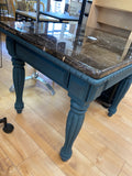 CVA-ST Marble Top Deep Blue Wood Side Table (pickup or delivery only)