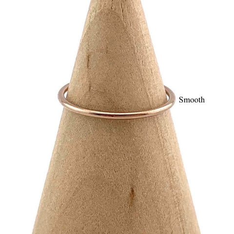 HHS-63 Rose Gold Filled Stacking Ring - Size 6