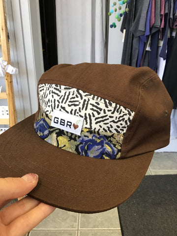 GBR-12 Adult Brown 5 Panel Hats