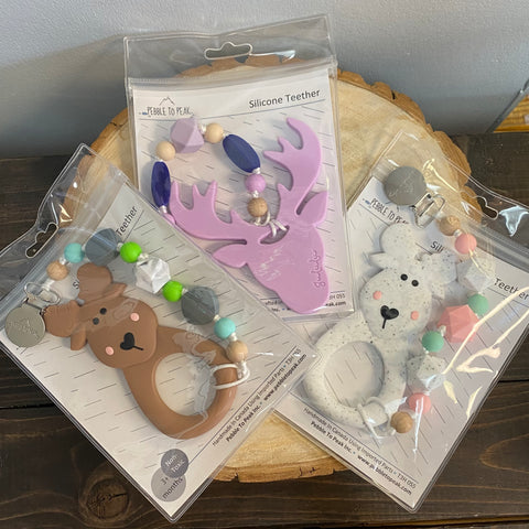 P2P-4 Deer & Moose Teether With Clip