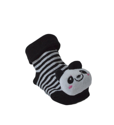 URB-08 PANDA BEAR - Baby Sock Booties