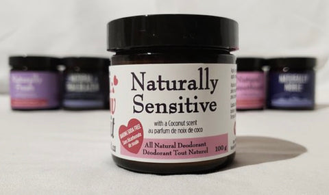 ILI-01-20 Naturally Sensitive (Coconut Scent) - Baking Soda Free Deodorant