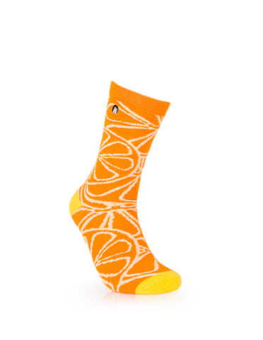 URB-02 ORANGE SLICE- Unisex Crew Socks