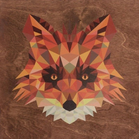 RPC-9 Stained 14x14 Print Sign Geometric Animal