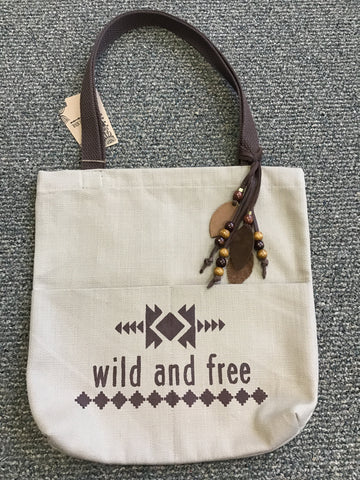 LAS-14 Wild And Free Canvas Totes