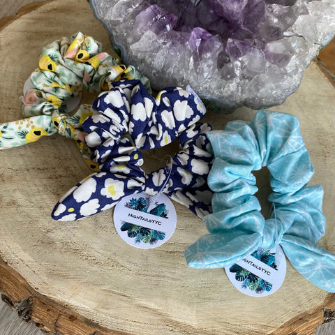 HTS-04 PATTERNED Mini Bow Scrunchie (choose from drop down list)