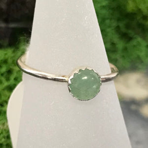 HHS-13 Sterling Silver Sm. Gemstone Ring Size 5
