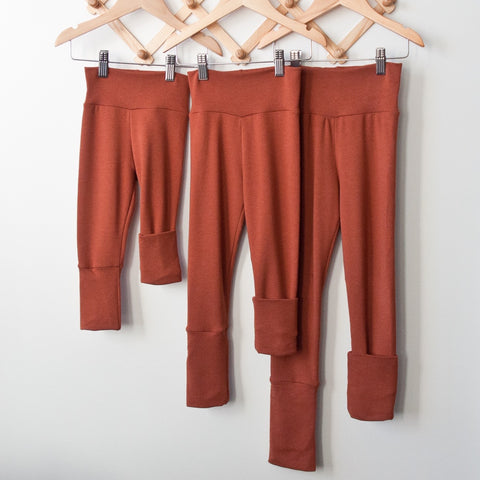 TPP-03 Rust SOLID Grow Along Pants 3m-12m