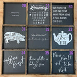 WR-40  Square Signs $40 -assorted