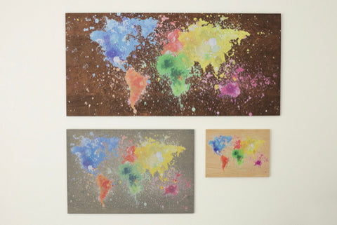 "RPC- 18.5""x 27.5"" Bright Map 3 Colours to choose"