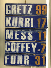 Load image into Gallery viewer, RGC-05 Oilers Legends Numbers  Gretz 99  Kurri 17  Mess 11  Coffeey 7  Furh 31