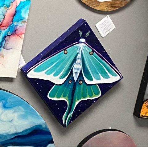 BAD-03 Luna Moth Blue - 12x12