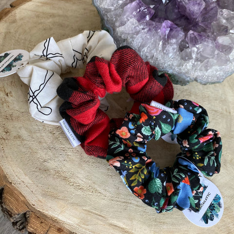 HTS-03 PATTERNED Mini Scrunchie (choose from drop down list)