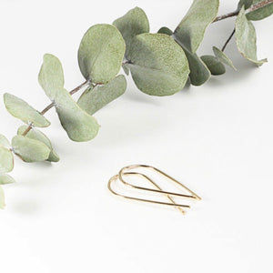 TMD-10 Gold Filled Ribbon Earrings