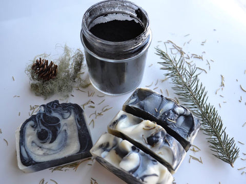 LSW-05 Tea Tree Eucalyptus with Activated charcoal Bar Soap