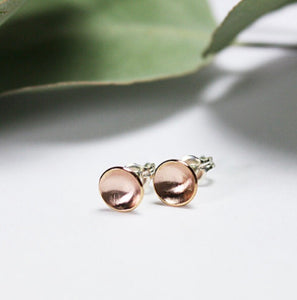TMD-04 Rose Gold-Filled Concave Studs
