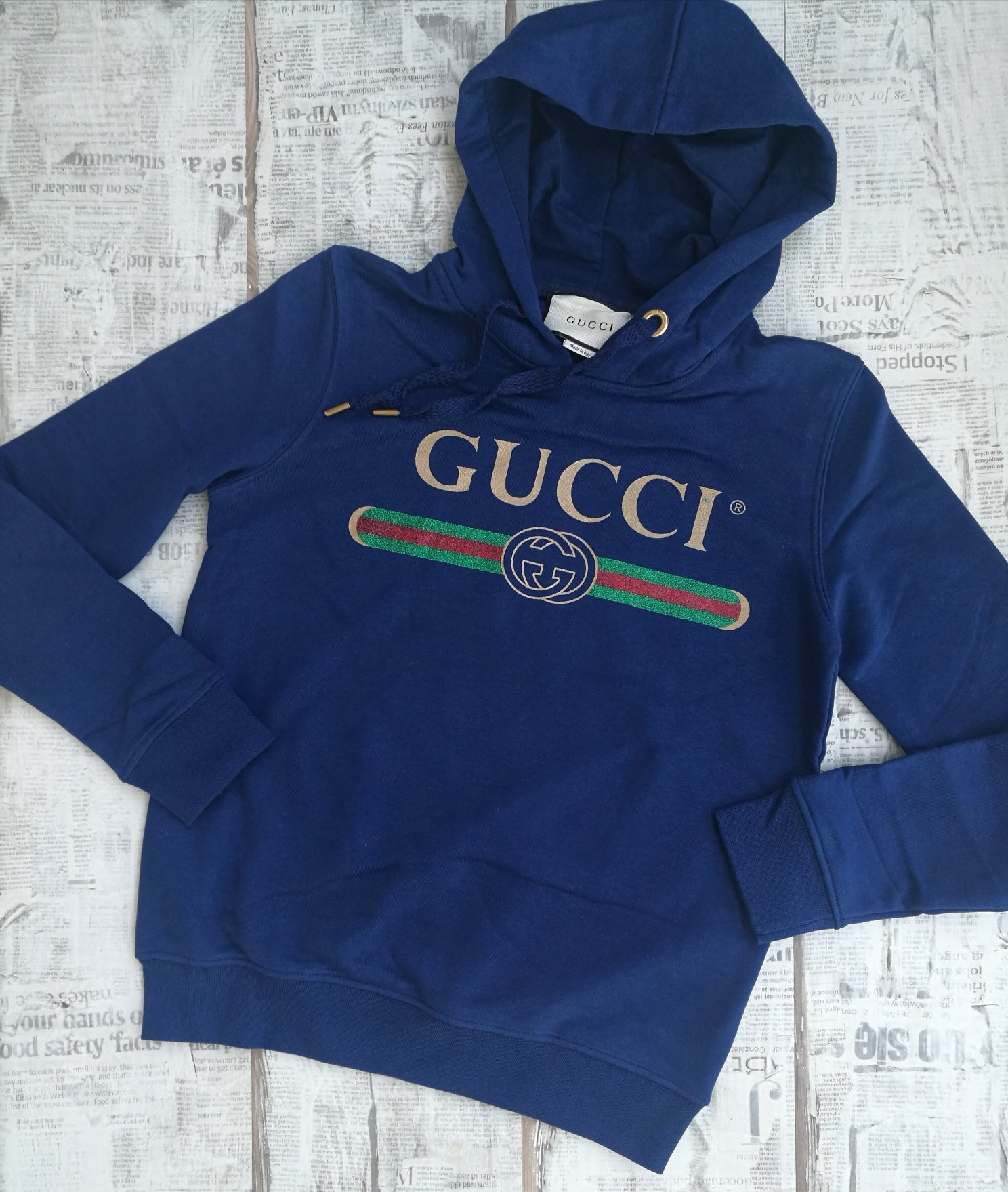 0538da190387 Gucci Women s Hooded Gucci Logo Cotton Sweatshirt - rvbrandstore
