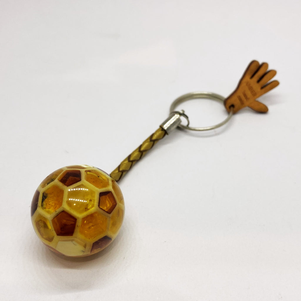 Leather Amber Keychain