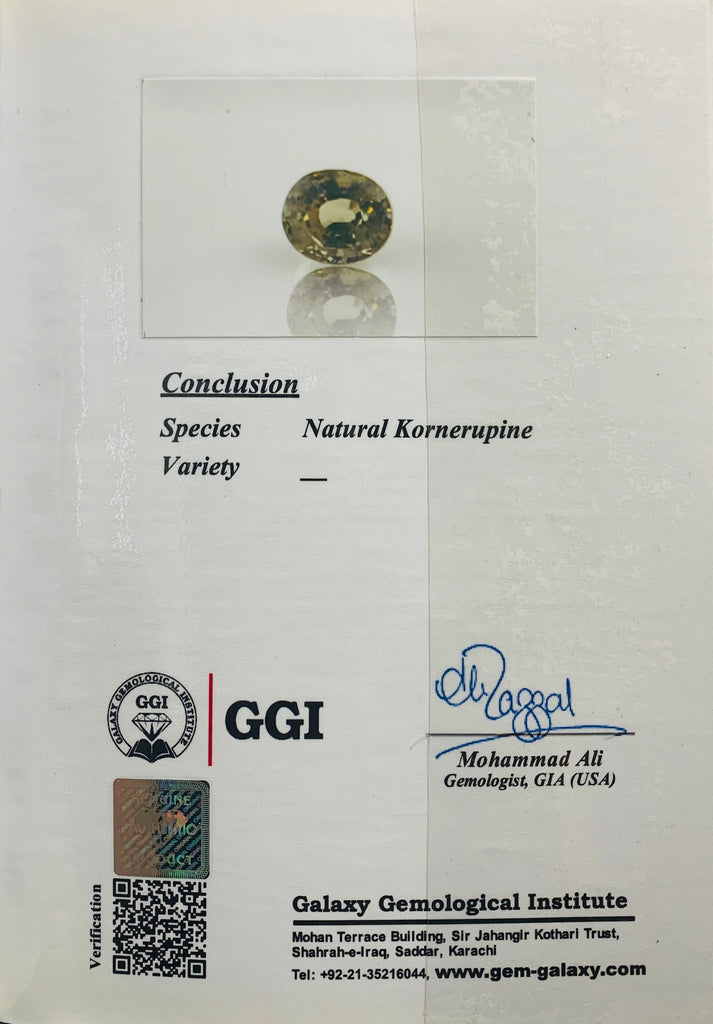 Natural Kornerupine - 2.69 ct.