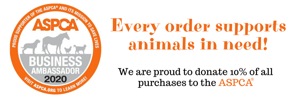 Our dog bandanas are ethically made, satisfaction guaranteed, and support the ASPCA.