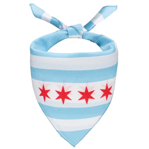 Chicago Flag Dog Bandana - Canine Compassion Bandanas