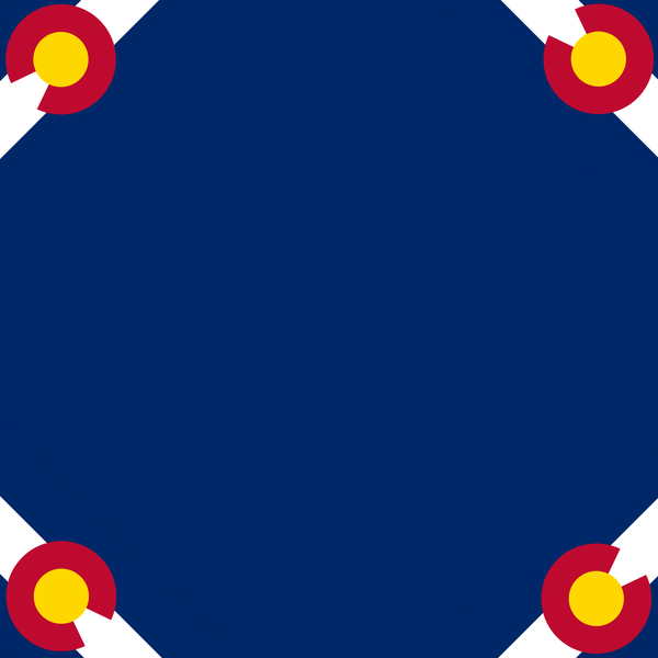 Colorado Flag Dog Bandana - Canine Compassion Bandanas