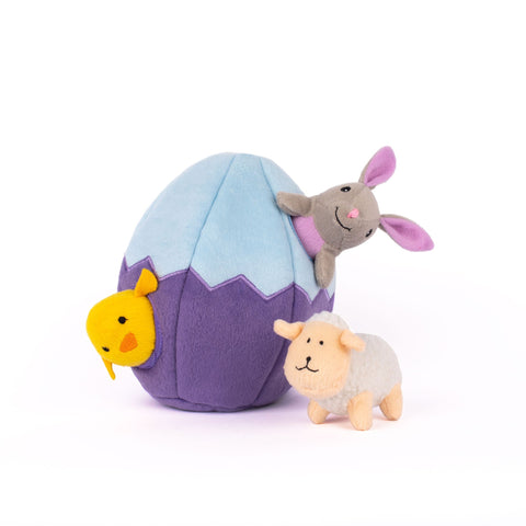Easter Egg Burrow Plush Dog Toy - Canine Compassion Bandanas