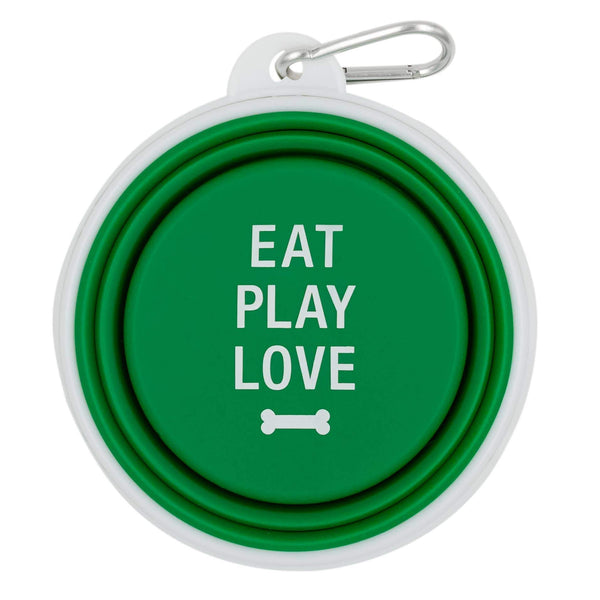 Eat Play Love Collapsible Bowl - Canine Compassion Bandanas