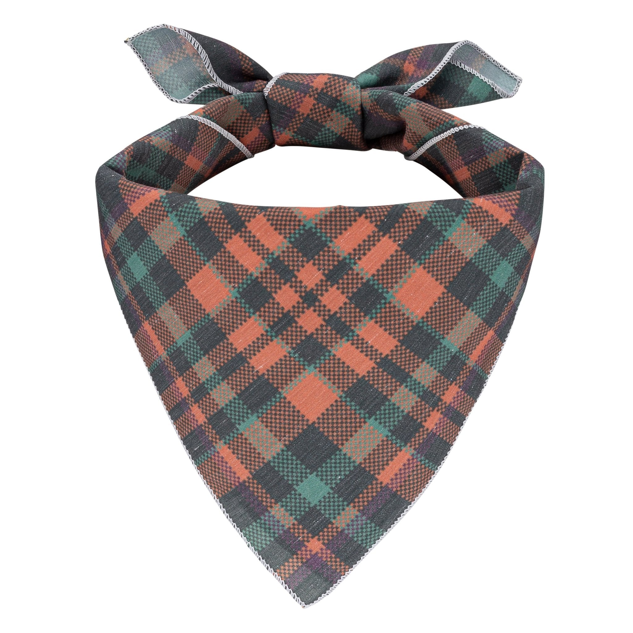 Fall Plaid Dog Bandana - Canine Compassion Bandanas
