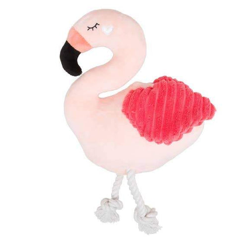 Flamingo Plush Dog Toy - Canine Compassion Bandanas
