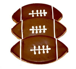 Football Decorated Dog Treat - Canine Compassion Bandanas
