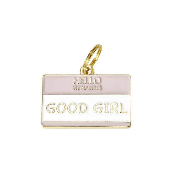 Good Girl Enamel Dog Tag - Canine Compassion Bandanas