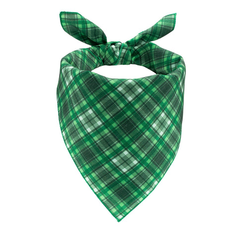 Green Plaid Dog Bandana - Canine Compassion Bandanas