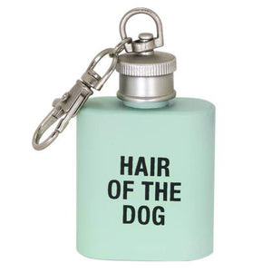 Hair of the Dog Flask Keychain - Canine Compassion Bandanas
